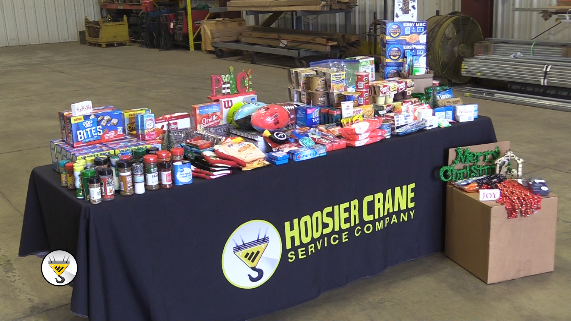 (VIDEO) Hoosier Crane Donates To Operation care Package