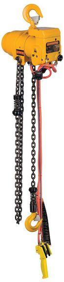 harrington tcr 6 ton air chain hoist pendant